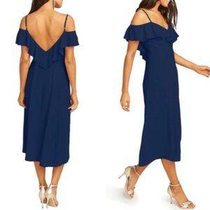 Show Me Your Mumu NWT Camilla Navy Midi Dress